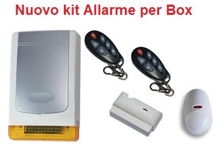 Nuovo Kit allarme per Box - a batteria e via radio 868Mhz